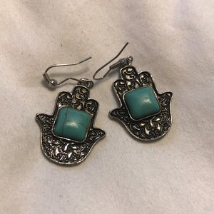 Hamsa Dangle Earrings